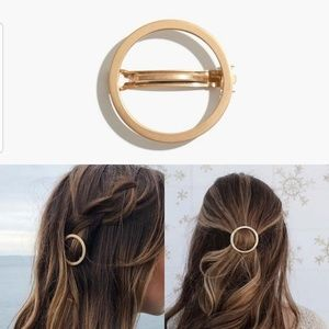 Madewell Chunky Circle Hair Clip - Vintage Gold